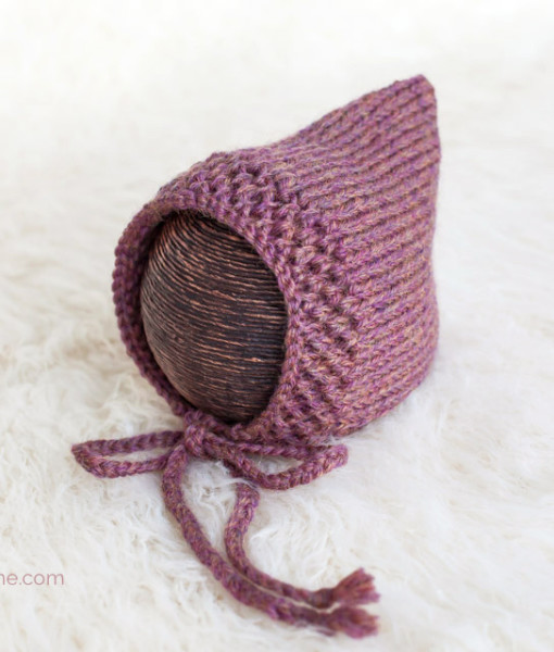 Diagonal Border Pixie Bonnet ? Knitting Pattern PDF ...